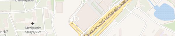 Karte Supercharger Esentai Mall Almaty