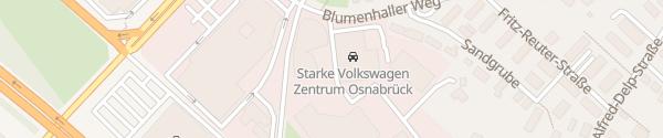 Karte Volkswagen Zentrum Osnabrück