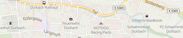 Karte Steinberghalle Durbach