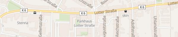 Karte Parkhaus Lotter Straße Osnabrück