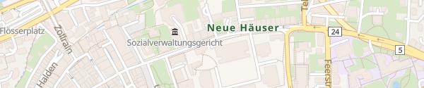 Karte Kasernen-Parking Aarau