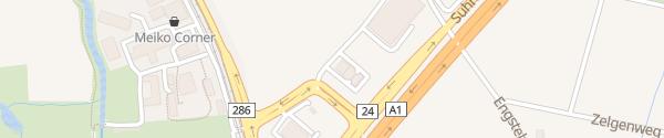 Karte Coop Pronto Oberentfelden