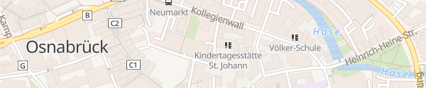 Karte Kollegienwall-Garage Osnabrück