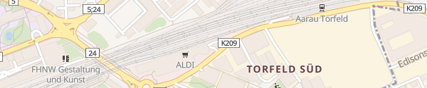 Karte Destination Charger Gais Center Aarau