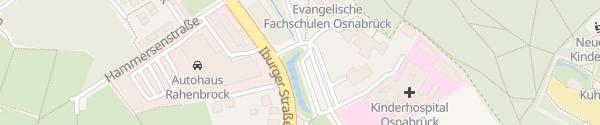 Karte Parkplatz Kinderhospital Osnabrück