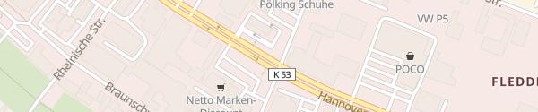 Karte McDonald's Osnabrück