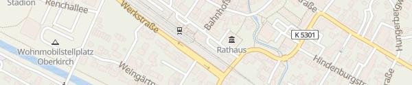 Karte E-Bike Ladesäule Bahnhof Oberkirch