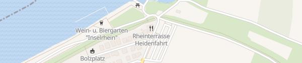 Karte E-Bike Ladestation Rheinterrasse Heidenfahrt Heidesheim am Rhein
