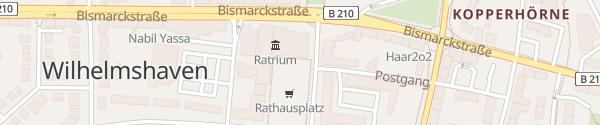 Karte Rathausplatz Wilhelmshaven