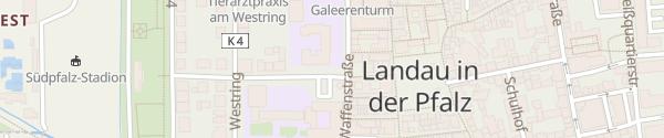 Karte Pestalozzischule Landau in der Pfalz