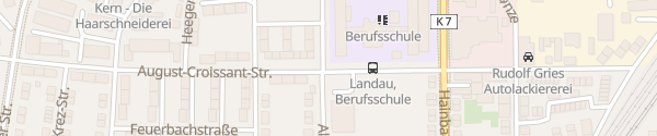 Karte Berufsbildende Schule Landau in der Pfalz