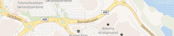 Karte McDonalds Kristiansand