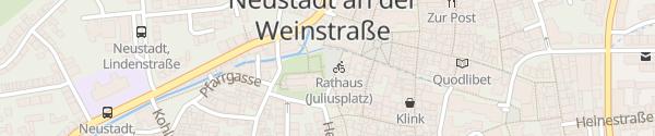Karte Juliusplatz Neustadt an der Weinstraße