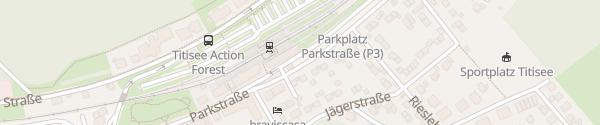 Karte P&R Parkplatz Bahnhof Titisee-Neustadt