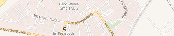 Karte Am Klingenweg Walluf