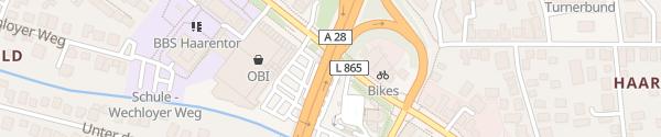 Karte Schnelllader Haarentor Oldenburg