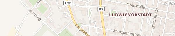 Karte Markgrafenstraße Rastatt