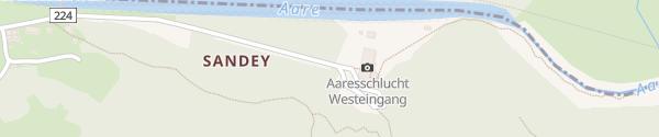 Karte Aareschlucht Meiringen