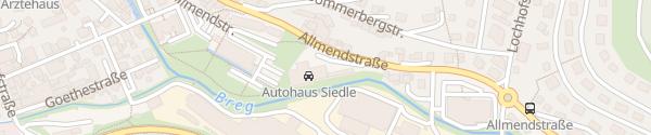 Karte VW Autohaus Siedle Furtwangen im Schwarzwald