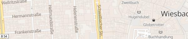 Karte Parkhaus City 2 Wiesbaden