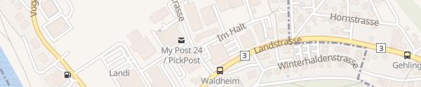 Karte Autohaus Küng AG Gebenstorf