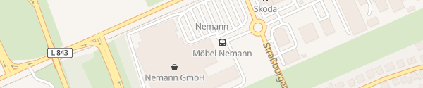 Karte Wohnmarkt Nemann Vechta