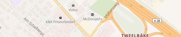 Karte McDonald's Oldenburg