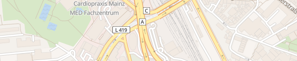 Karte CityPort Parkhaus Mainz