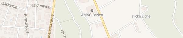 Karte AMAG-AUDI Baden Fislisbach