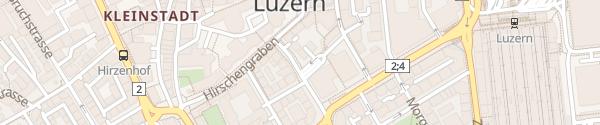 Karte Parking Luzerner Kantonalbank Luzern