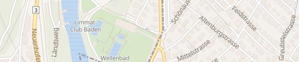 Karte Hallen- und Freibad Baden