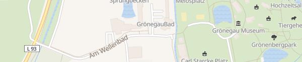 Karte Grönegaubad Melle