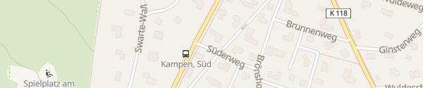 Karte Appartements & Mehr Kampen