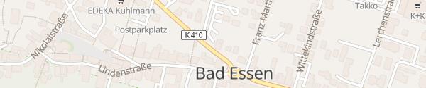 Karte innogy Ladesäule Bad Essen