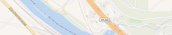 Karte GoFast Würenlos Limmat Würenlos