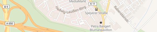 Karte Hedwig-Laudien-Ring Ludwigshafen am Rhein