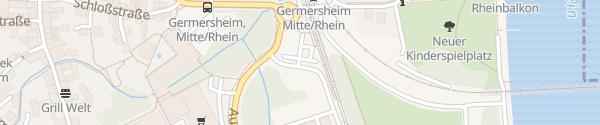 Karte P+R-Parkplatz Germersheim