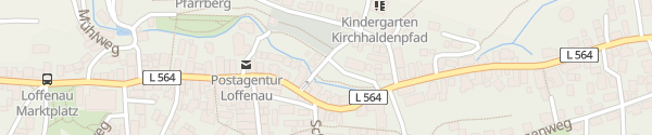Karte Kirchwiesen Loffenau
