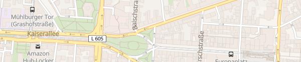 Karte Mühlburger Tor Kaiserplatz Karlsruhe