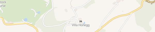 Karte Hotel Villa Honegg Ennetbürgen