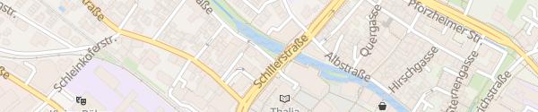 Karte Mühlenstraße 1x11kw Ettlingen