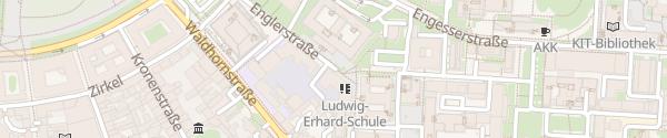 Karte Kant-Gymnasium Karlsruhe