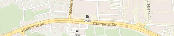 Karte AVIA Tankstelle Freudenstadt