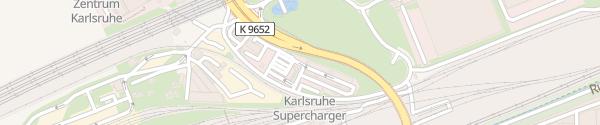 Karte BFT/EFA Tankstelle Karlsruhe
