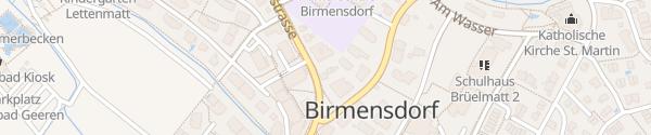 Karte Zürcherstrasse Birmensdorf