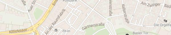 Karte Hotel Der Blaue Reiter Karlsruhe