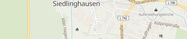 Karte Hallenbad Siedlighausen Winterberg