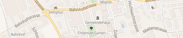 Karte Parkplatz Gemeindehaus / Bibliothek Steinhausen