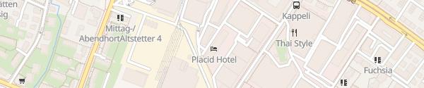 Karte Parkhaus Diakonie Bethanien Zürich