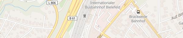 Karte Bahnhof Brackwede Bielefeld